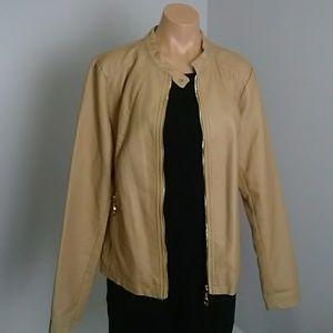 Ivanka Trump Brown jacket faux leather